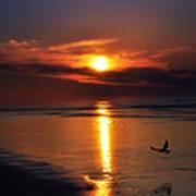 The Beach At Dawn Art Print