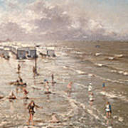 The Beach At Ostend Art Print