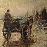 The Beach At St Ives Art Print