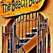 The Beach Bean Art Print