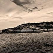 The Beach In Sepia Art Print