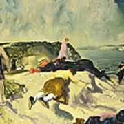 The Beach Newport Art Print by George Wesley Bellows