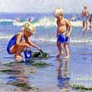 The Beach Pail Art Print