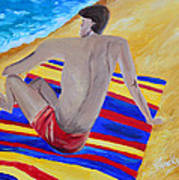 The Beach Towel Art Print