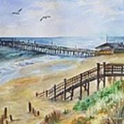 Nags Head Fishing Pier Art Print
