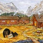 The Bear's Picnic Art Print