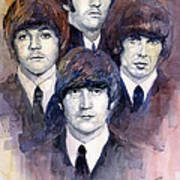 The Beatles 02 Art Print by Yuriy  Shevchuk