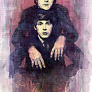 The Beatles John Lennon And Paul Mccartney Art Print by Yuriy  Shevchuk