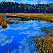 The Beautiful Cary Lake - Old Forge New York Art Print