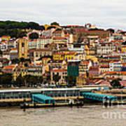 The Beautiful Colors Of Lisbon Art Print