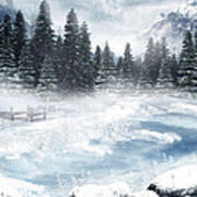 The Beautiful Gothic Winter Art Print by Boon Mee