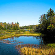 The Beautiful Moose River In Old Forge New York Art Print