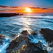 The Beautiful Sunset Beach Print by Boon Mee