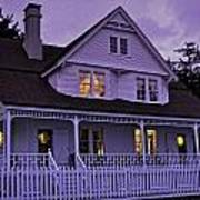 The Bed And Breakfast At Heceta Art Print