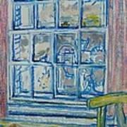 The Bedroom Window Oil & Pastel On Paper Art Print
