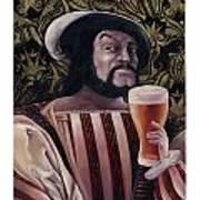 The Beer Drinker Art Print