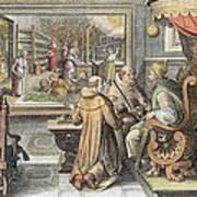 The Beginning Of The Silk Industry Art Print