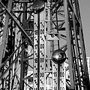 The Bells Of Coney Island In Black And White Art Print