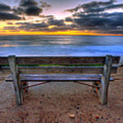 The Bench II Art Print by Peter Tellone