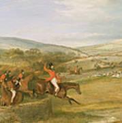 The Berkeley Hunt, Full Cry, 1842 Art Print