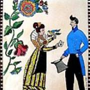 The Betrothal-folk Art Art Print