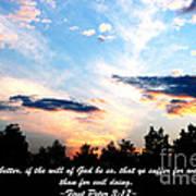 The Bible First Peter Three Seventeen Art Print