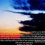 The Bible Matthew 24 Art Print