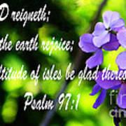 The Bible Psalms 97 Art Print