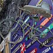 The Bicycle Peddler Art Print