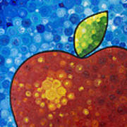 The Big Apple - Red Apple By Sharon Cummings Art Print