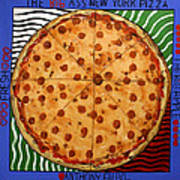 The Big Ass New York Pizza Art Print by Anthony Falbo