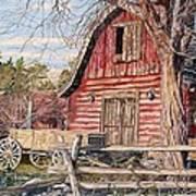 The Big Red Barn Art Print