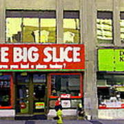 The Big Slice Pizzeria Downtown Toronto Restaurants Doner Kebob House Street Scene Painting Cspandau Art Print