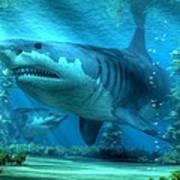 The Biggest Shark Art Print