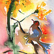 The Bird And The Flower 01 Art Print