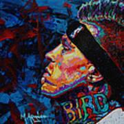 The Birdman Chris Andersen Art Print by Maria Arango