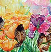 The Birds Of Spring Shower Blessings On You Art Print