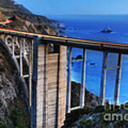 The Bixby Bridge  Art Print by Marco Crupi