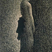 The Black Bow Art Print by Georges Pierre Seurat