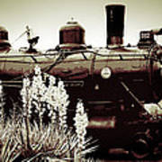 The Black Steam Engine Art Print