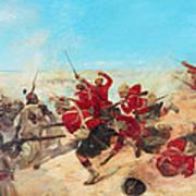 The Black Watch At The Battle Art Print by Henri-Louis Dupray