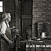 The Blacksmith 2 Monochrome Art Print