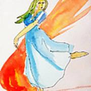 The Blazing Dancer Art Print