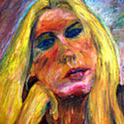 The Blonde 2 Art Print