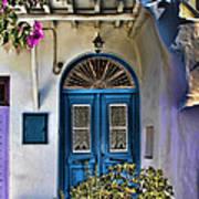 The Blue Door-santorini Art Print