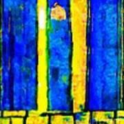 The Blue Doors Of La Rue Des Fauves Art Print