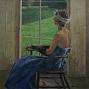 The Blue Dress, 2009 Oil On Canvas Art Print