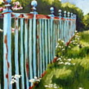 The Blue Fence Art Print