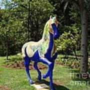 The Blue Horse Art Print