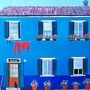 The Blue House Burano Art Print